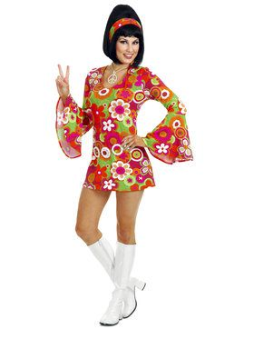 Groovy Adult Hippie Costume