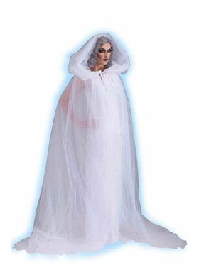 Womens Haunted Hooded Cape And Dress Adu