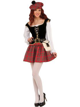 Highland Hottie Lass Costume for Adults