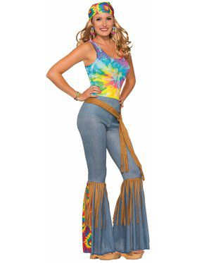 Adult Hippie Pants with Belt