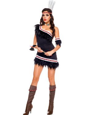 Womens Huron Honey Indian Costume