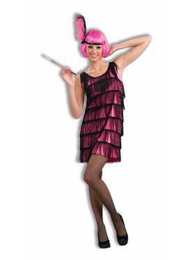 Twenties Hot Pink Flapper Ladies Costume