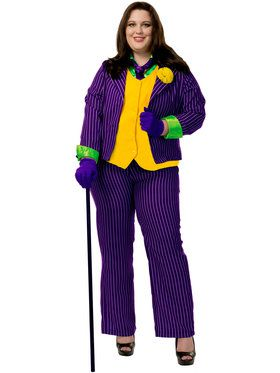 Womens Joker Plus Size Costume