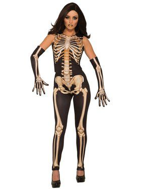 Womens Lady Bones Costume