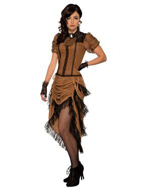 Last Dance Saloon Girl Costume for Adults