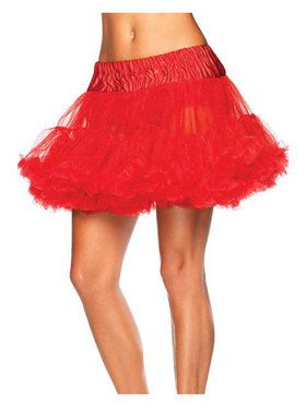 Womens Layered Tulle Petticoat - Red
