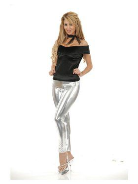 Women's Liquid Metal Leggings - Silver