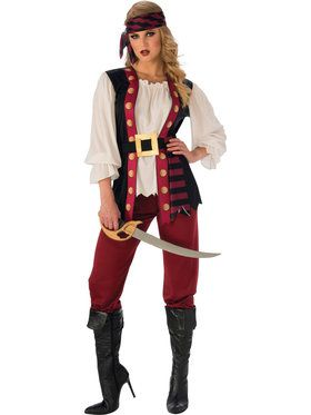 Womens Lusty Pirate Costume