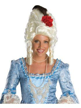 Women's Marie Antoinette Wig with Rose