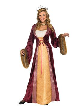 Adult Womens Royal Medieval Costume