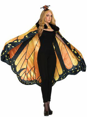 Monarch Butterfly Cape for Adults