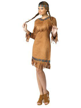 Womens Native American Fringed Costume