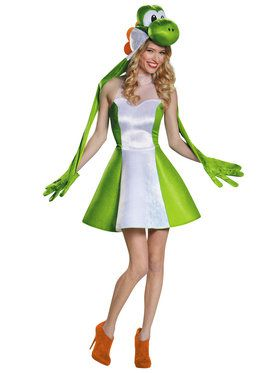 Womens Yoshi Super Mario Brothers Costume