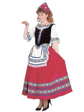 Womens Peasant Girl Costume