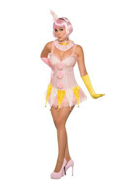 Womens Pin Up Clown Costume
