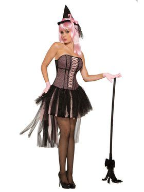 Pin Up Witch Costume for Women