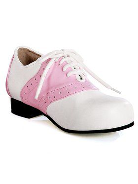 Womens Pink And White Saddle Shoe