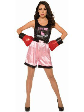 Women's Pink Boxer Adult Costume