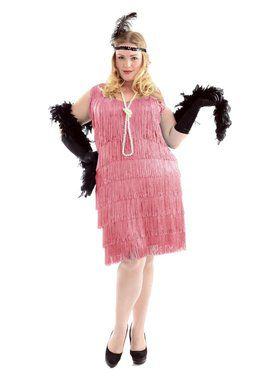 Women's Pink Flapper Plus
