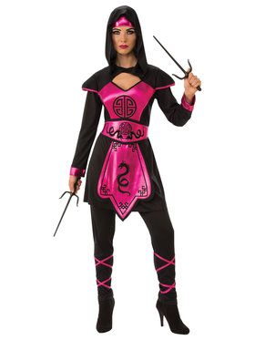 Pink Ninja Warrior Women's Costume