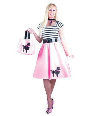 Women's Pink Poodle Dress - Plus