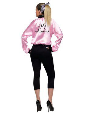 Womens Pink Satin Lady Jacket