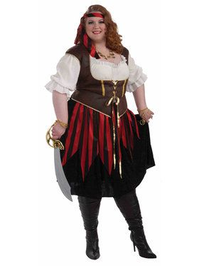 Women's Curvy Pirate Lady Costume