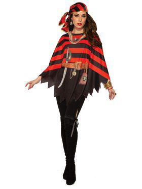Womens Pirate Poncho