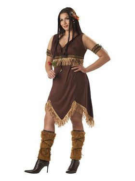 Adult Plus Indian Princess Womens Costum