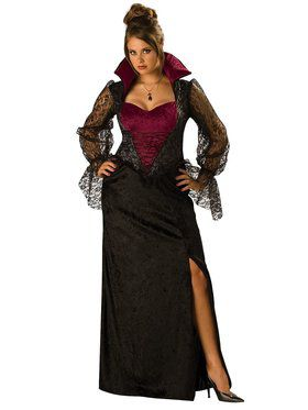 Womens Plus Midnight Vampiress Costume