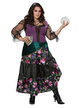 Womens Plus Mysical Charmer Gypsie Cosutme