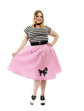 Women's Plus Poodle Skirt - Bubblegum