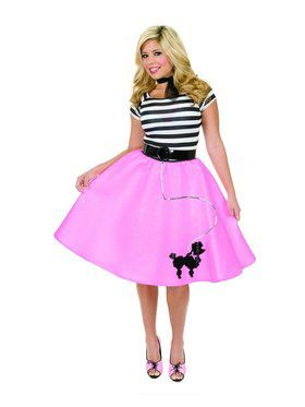 Women's Plus Poodle Skirt - Fuscia