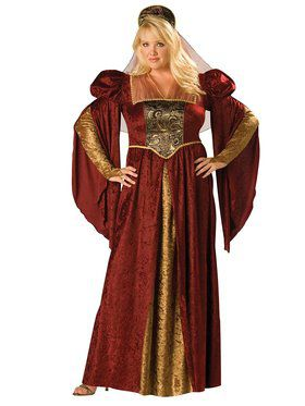 Womens Plus Renaissance Maiden Costume