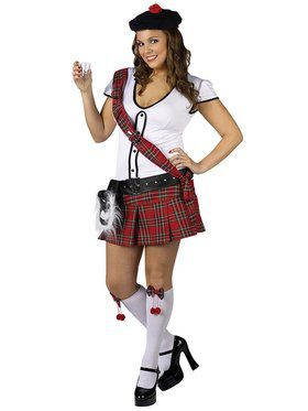 Womens Plus Sexy Scottie Hottie Costume
