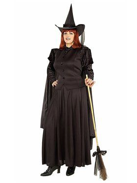Womans Plus Size Classic Witch Costume