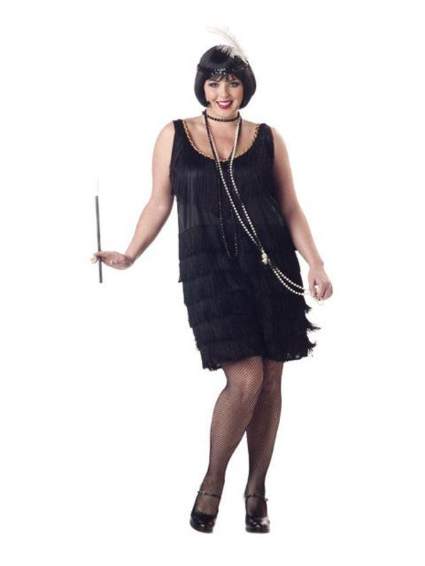 Plus Size Womens Fashionable Flapper Costume Adult 2018 Halloween