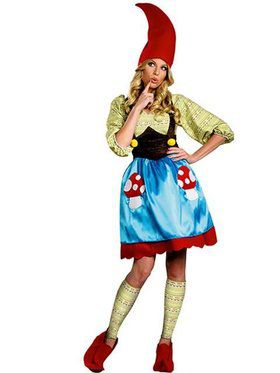 Womens Plus Size Ms Gnome Costume