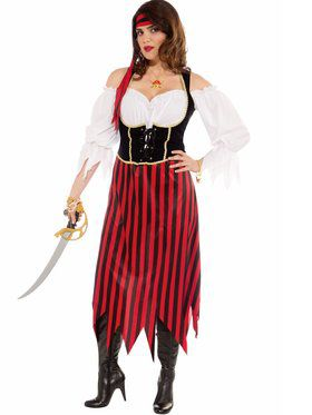 Womens Plus Size Pirate Maiden