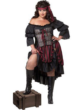 Womens Plus Size Pirate Wench Costume