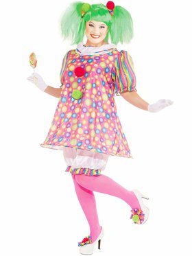 Plus Size Womens Tickles the Clown Costume