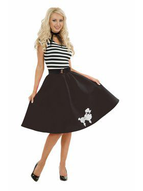 Women's Poodle Dress - Black