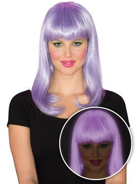 Purple Glow Women's Babe Wig