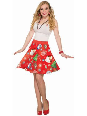Women's Red Christmas Skirt