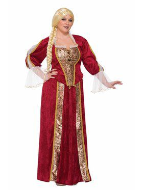Renaissance Queen Women's Curvy Costume