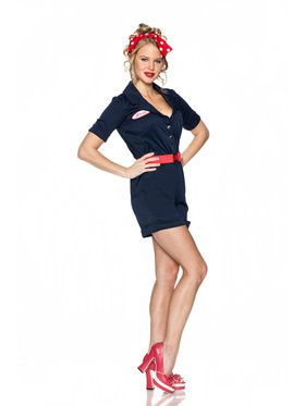 Womens Riveting Rosie Costume