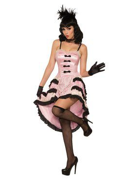Womens Rose The Cancan Dancer Costume