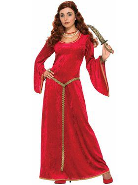 Womens Ruby Scorceress Renaissance Costu