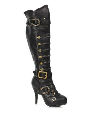 Womens Rumi Black Pirate Boots