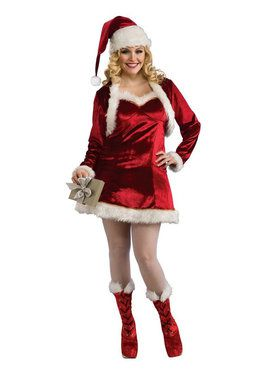 Womens Santa's Helper Dress - Plus Size